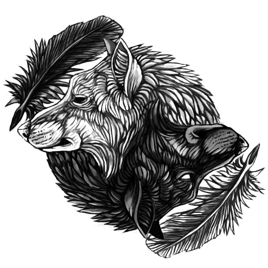 bc45af3af4e13 Ying Yang Wolves « Portfolio Tammy Gruenwald